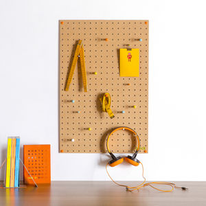Pegboard With Wooden Pegs, Medium