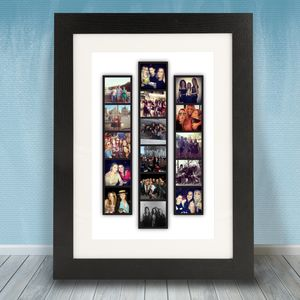 Personalised Photo Strip Frame - gifts £25 - £50 for him