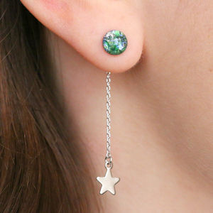 Earth And Stars Drop Earrings - earrings