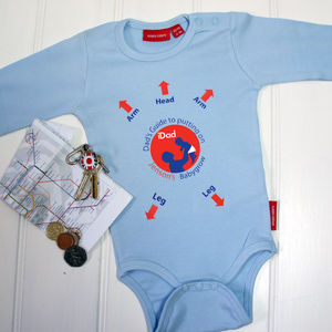 Personalised Dad's First Babygrow - first father's day