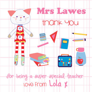 Thank You For Being My Teacher Card