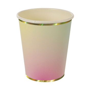 Eight Ombre Paper Cups