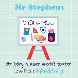 Thank You For Being My Teacher Greeting Card