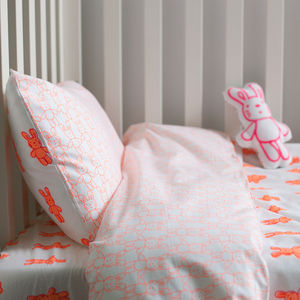 Bunny Rabbit Cot Bed Duvet Set - bedding & accessories