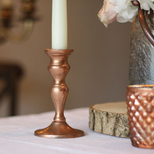 Copper Candle Sticks – Set Of Two - christmas home