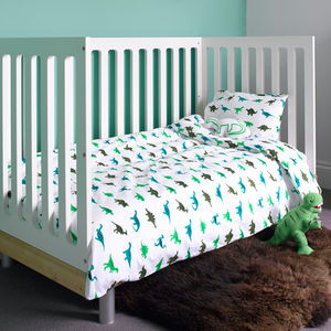 Dinosaur Cot Bed Duvet Set - baby's room