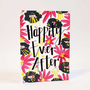 'Happily Ever After' Engagement Card - wedding cards