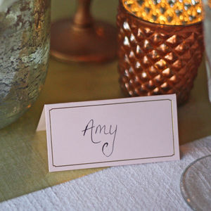 Pink And Gold Place Cards – Set Of 10