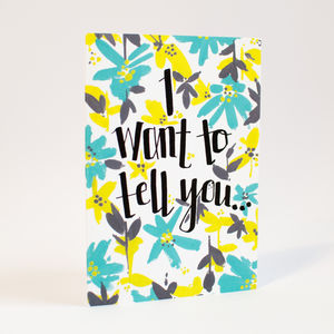 'I Want To Tell You' Announcement Card - view all gifts