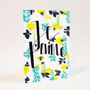 'Je T'aime' Valentine's Card - anniversary cards