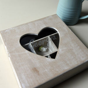 Personalised Wooden Heart Jewellery Box - storage & organisers