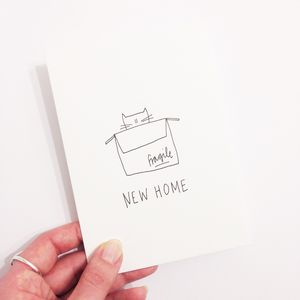 Hand Illustrated 'New Home' Card - new home cards