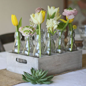 Country Style Centrepiece 12 Bottles In Wooden Crate - what's new