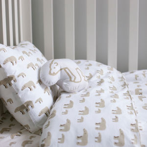Mother And Baby Bear Cot Bed Duvet Set - baby's room