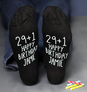 '29+1' Personalised Birthday Socks - 30th birthday gifts