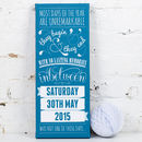 Canvas - Aqua - Personalised Special Date Art Print