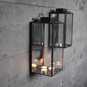Zinc Storm Lantern - table decorations