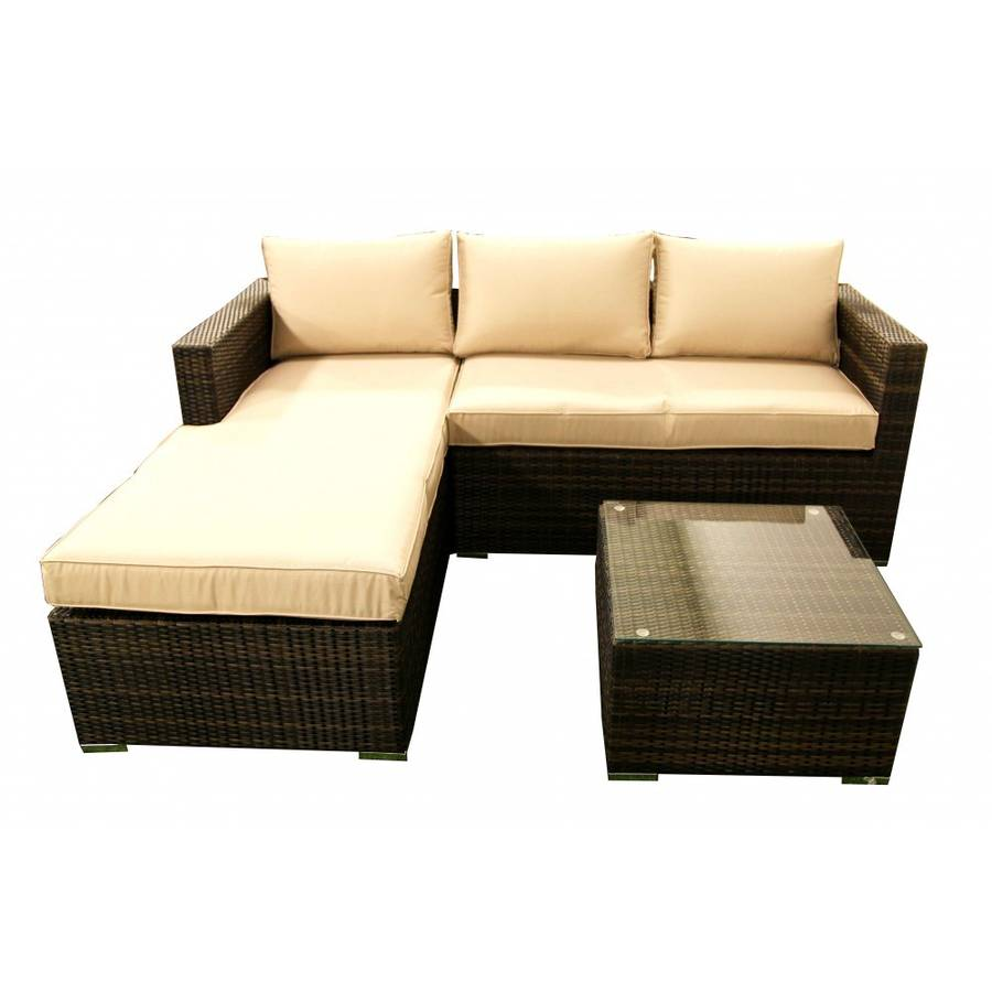 Chaise end sofa set by out there exteriors for Chaise end sofa bed