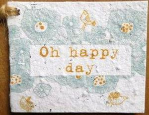 Growing Paper Oh Happy Day Seeded Gift Tag