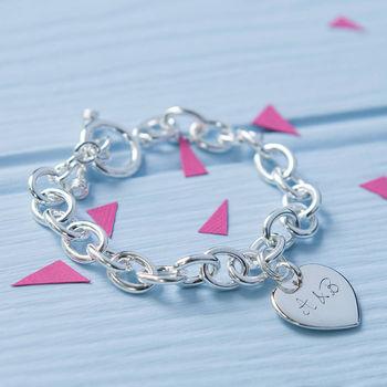 Personalised Sterling Silver Link Bracelet