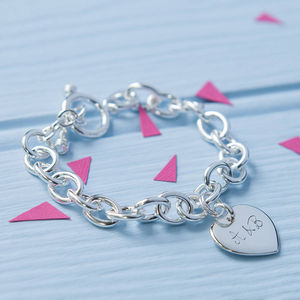 Personalised Sterling Silver Link Bracelet - gifts for her
