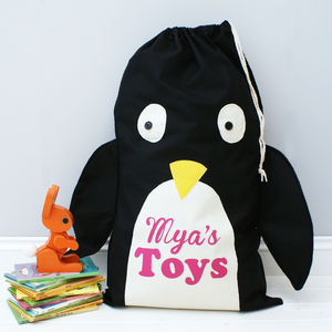 Personalised Animal Toy Sack - arctic adventure