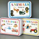 Retro Animal Stamp Set