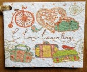 Growing Paper I Love Travel Seeded Gift Tag