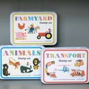 Retro Transport Stamp Set