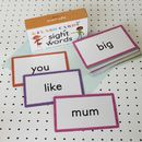 Learning Sight Words Flash Cards
