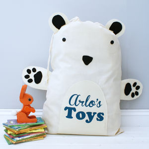 Personalised Children's Animal Toy Bag - arctic adventure