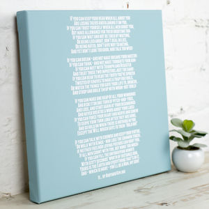 Personalised Mounted Poem Art Print - canvas prints & art for children