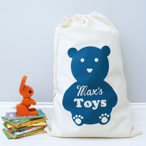Personalised Bear Toy Bag - children's furniture