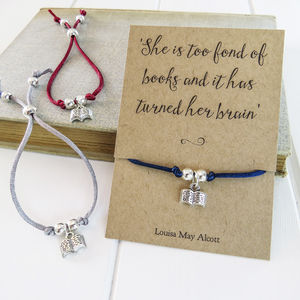 Book Lover Friendship Bracelet - women's jewellery