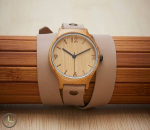 Natural Beige Wrap Around Bamboo Watch - men's accessories