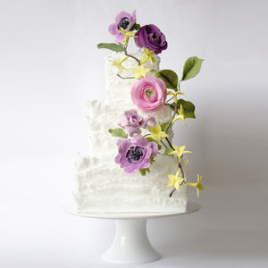Flowers And Frills Wedding Cake