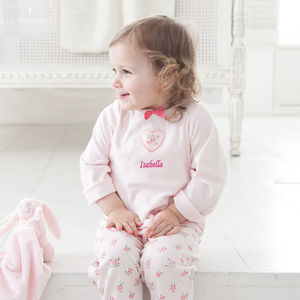 Personalised Pink Pyjamas - gifts for babies & children sale