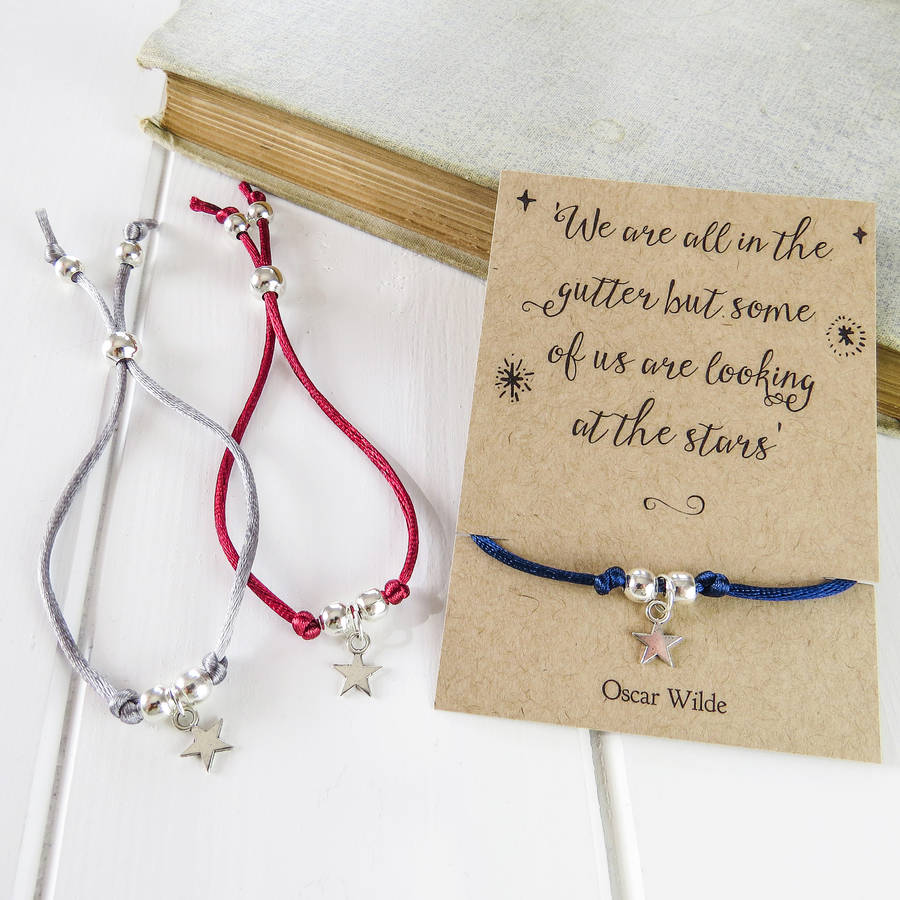 Oscar Wilde Star Friendship Bracelet By Literary Emporium