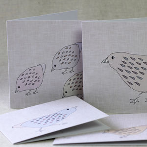 Bird Note Cards Set Of Four - blank cards