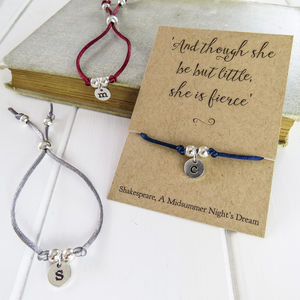 Personalised Initial Friendship Bracelet - women's jewellery