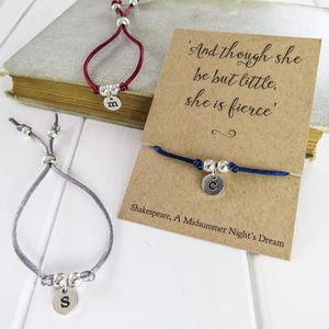 Personalised Initial Friendship Bracelet - whatsnew