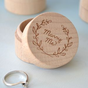 Engraved Personalised Proposal Ring Box - jewellery storage & trinket boxes