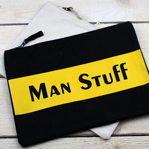 'Man Stuff' Bag - stocking fillers