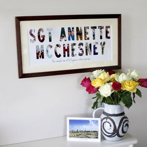 Panoramic Personalised Photo Typography