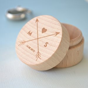 Personalised Wooden Trinket/Ring Box