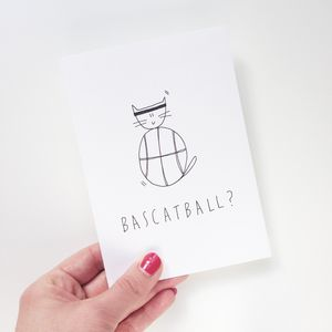 Hand Illustrated 'Bascatball' Card