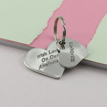 Happy Anniversary Heart Keyring