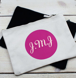 Personalised Circle Monogrammed Bag - stocking fillers under £15