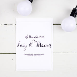 Nightgarden Wedding Save The Date Card Or Magnet - our picks: wedding stationery