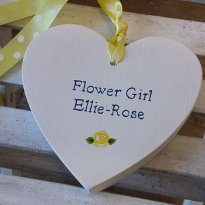Personalised Rose Bridesmaid Heart